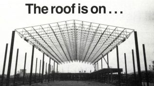 The roof was on before any walls were up