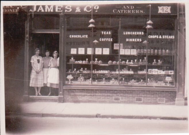James & Co shop frontage | From the private collection of Tim Monod