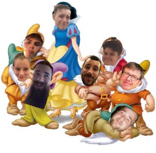 Liam in Audio with his seven dwarves