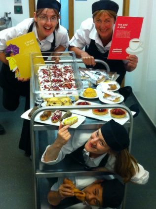 Partnership Day selfie competition | Catering showing off how much can fit on a trolley