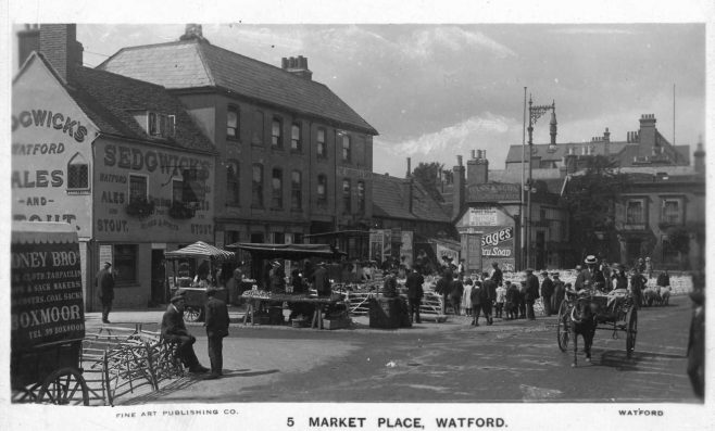 Watford High Street and Market place.