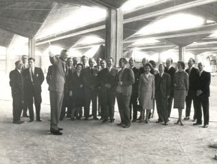The interior of Stevenage Warehouse, complete with Partners, 1963