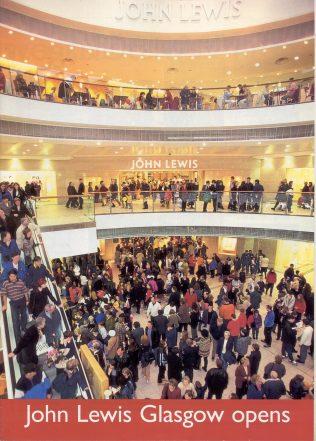 Crowds embrace John Lewis Glasgow