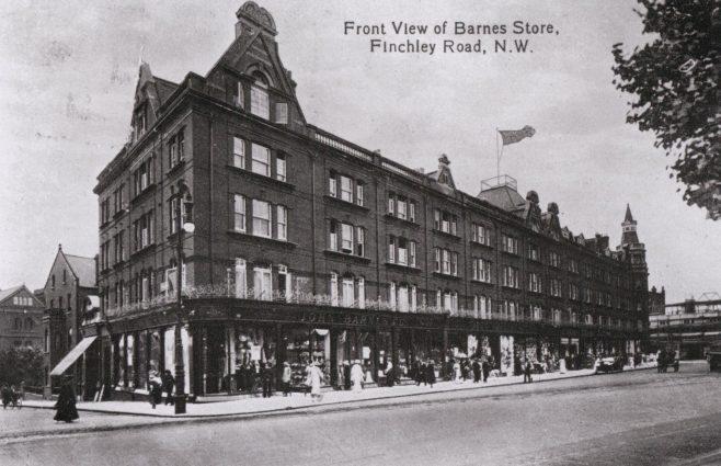 The exterior of John Barnes, circa 1916