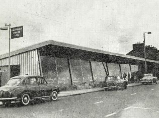 A garage in Southampton, partly constructed by John Lewis Building