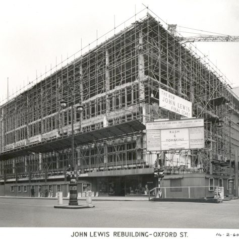 Rebuilding of John Lewis on Oxford Street, February 1960