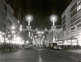 John Lewis, christmas 1964. The Winged Figure is just visible