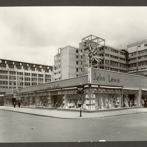 The temporary shop in Oxford Street, early 1950s