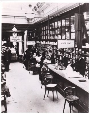 The John Lewis silk room in the 1930's