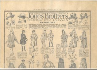 A Jones Brothers advertisment from 1918