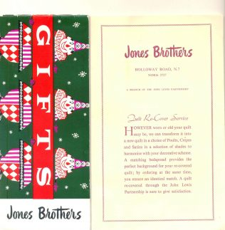 A Jones Brother promotional leaflet from the 1950's