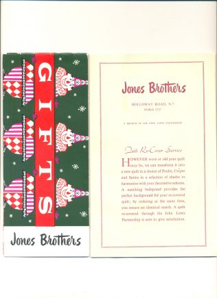 A Jones Brothers promotional leaflet from the early 1950's