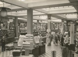 The interior of Jessops just prior to the Second World War