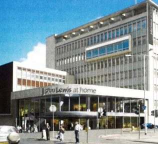 An artist's impression of John Lewis Exeter, originally intended to be the first city centre At Home store