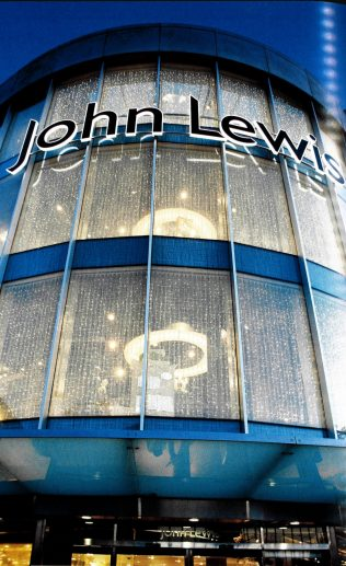 The frontage of John Lewis Exeter