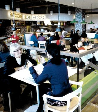 Customers tuck in at the new Place To Eat