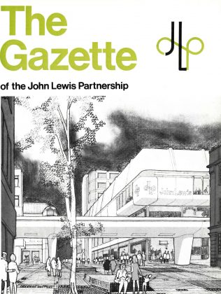 The front cover of the Gazette gives readers a sketch impression of a new proposed development at Sutton