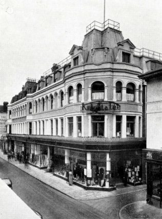 A photo of the frontage of Knight and Lee in 1936