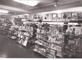 A photograph of the gift department, taken in 1972