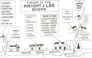 A guide of the various shops comprising Knight and Lee