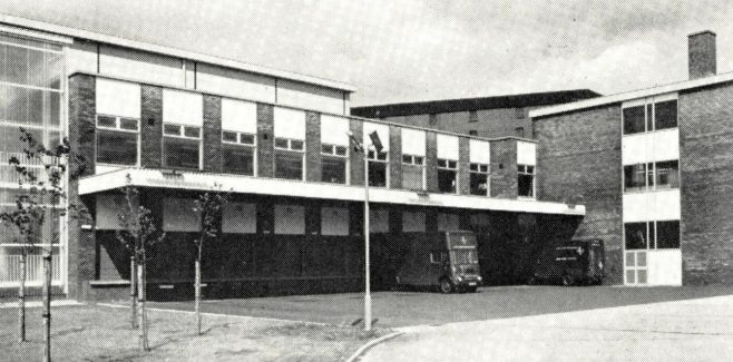 The exterior of the Leith Service building, c1970s