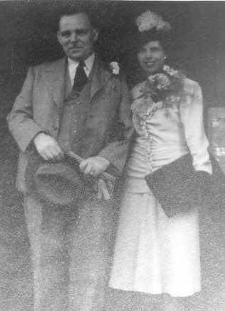 Bill Gaines at his wedding to Maud Watson 22.04.1946 | From the private collection of June W Smith