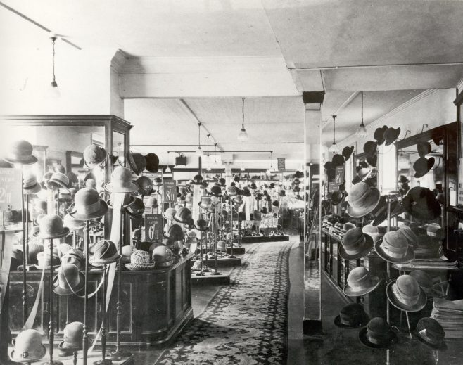 The millinery showroom in the 1920's
