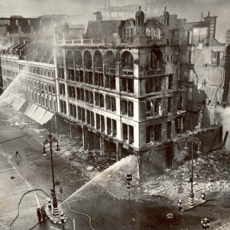 The exterior of John Lewis a day after the bombing, 19th September 1940