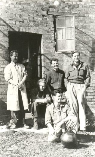 Odney pottery staff c1950 (John Bew is seated in the back row) | John Lewis Partnership Archives - Ref. 2077/k/4