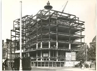 The the latter stages of the rebuild of Peter Jones, 1935