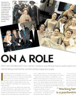 The Gazette feature on Hayley Burroughs, complete with pictures of her on-set