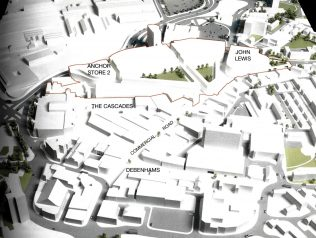 A plan of the Northern Quarter redevelopment scheme, as produced in 2005. Since then, the plan has been put on hold