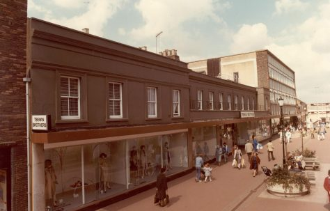 Queens Road pedestrianised in 1985