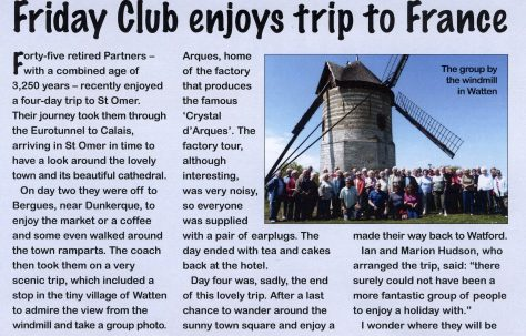 In Touch reports on The Friday Club holiday
