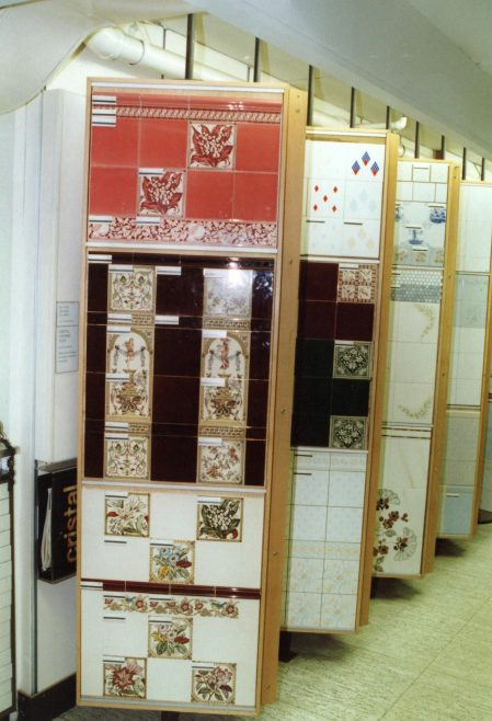 Kitchen and bathroom wall tile section of the DIY department, Queens Road. | JLP Archive Collection