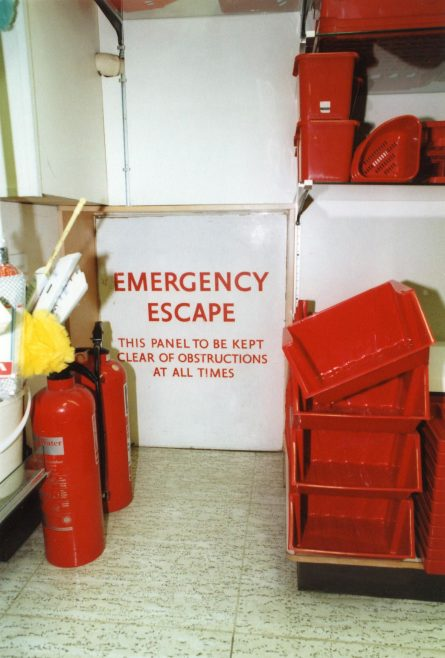 Fire Escape from the kitchenware department stockroom onto the shop floor. | JLP Archive Collection