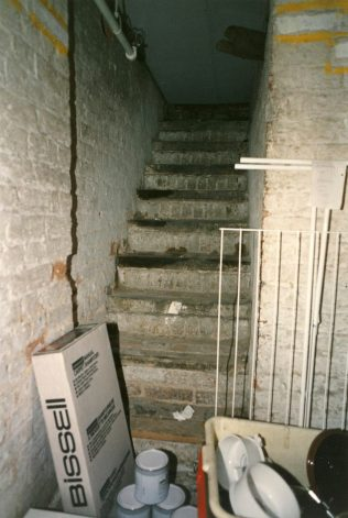 The Dungeons fire escape. | JLP Archive Collection