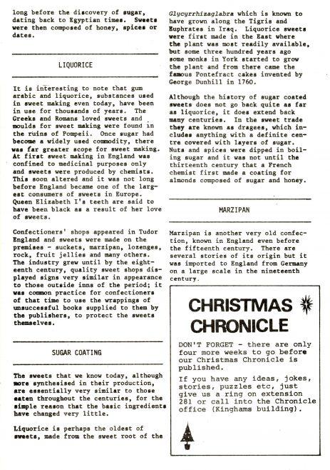 Chronicle. Vol.31. No.41. 21 November 1981