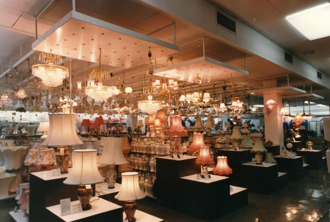 Lighting department, Queens Road. | JLP Archive Collection