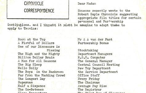 Chronicle. Vol.28. No.11. 14 April 1979