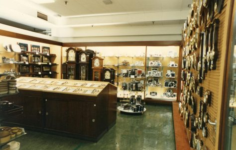 Silverware and gift department