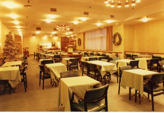 Restaurant with the check tablecloths | JLP Archive Collection