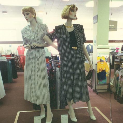 Fashion displays in the Queens Road shop. | JLP Archive Collection