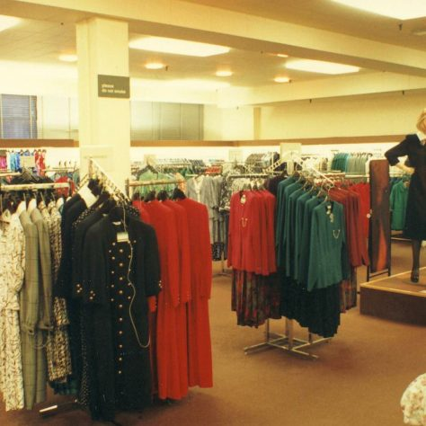 Ladies fashions in the Queens Road shop. | JLP Archive Collection