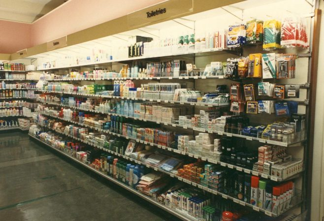 Toiletries department in the Queens Road shop. | JLP Archive Collection