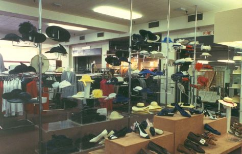 Ladies hats and shoe department