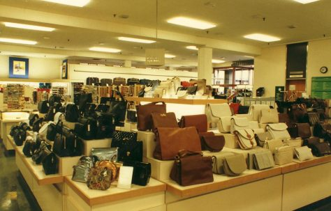 Ladies handbags and Travel goods departments