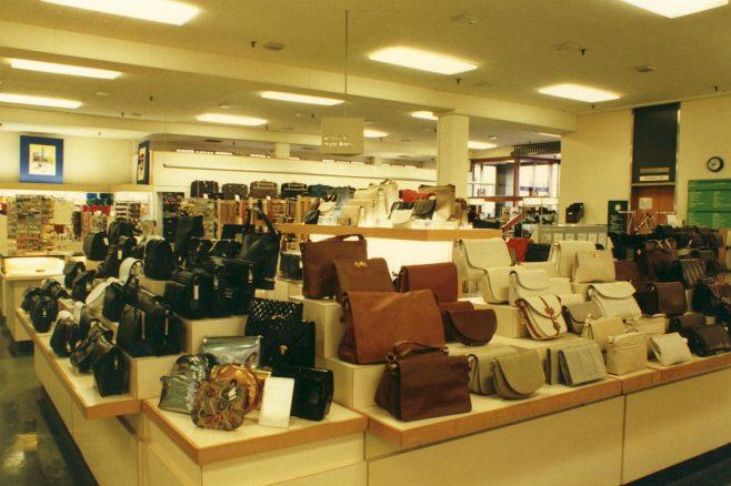 Ladies handbag department. | JLP Archive Collection