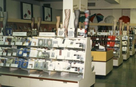 Hosiery and Lingerie departments