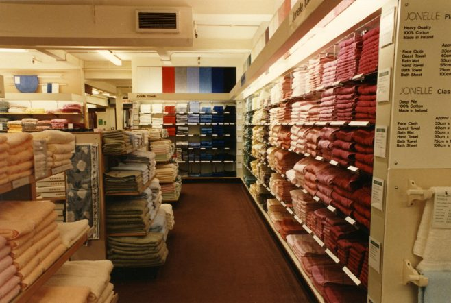 The towel section. | JLP Archive Collection